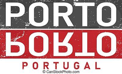 Porto City typography Logo Type Writing vector illustration