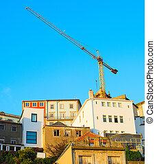 Porto construction site, Portugal