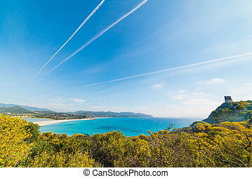 Porto Giunco panoramic view