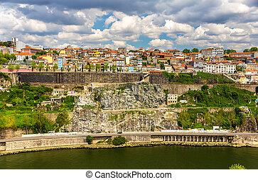porto, historique, -, centre, portugal