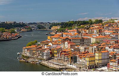porto, historique, centre, portugal