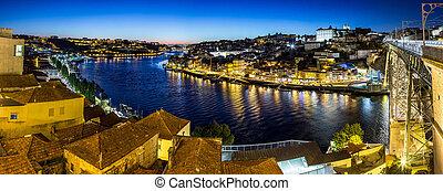 Porto in Portugal at night