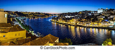 Porto in Portugal at night