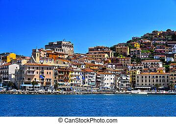 porto, italie, toscane, santo, ville, stefano