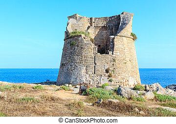 porto, italien, di, miggiano, salento, terme, santa, torre, cesarea