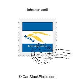 porto, johnston, vlag, atol, stamp.