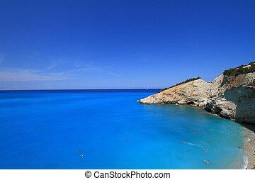 Porto Katsiki beach in Lefkada, Greece