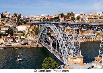 porto, luis, cityscape, pont, portugal, dom, vieille ville