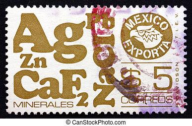 porto, mexikansk, mexico, frimærke, 1978, eksporter, minerals
