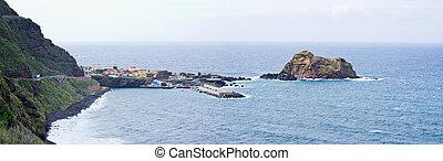 Porto Moniz on Madeira island, Portugal
