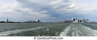 porto, novo, skyline, york