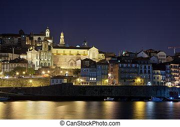 porto, nuit, portugal