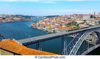 Porto old city day time landscape, Portugal