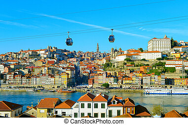 Porto Old Town cable car