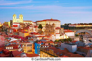 Porto Old Town dusk, Portugal
