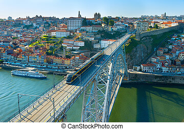 Porto Old Town skyline, Portugal
