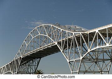 porto, ponte, in, corpusdomini, texas, stati uniti