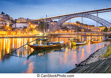 Porto, Portugal Cityscape - Porto, Portugal cityscape on the...
