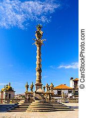 Porto, Portugal - Pelourinho da Se column Porto, Portugal