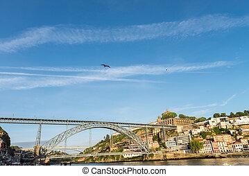porto, portugal, porto, ribeira, douro, rivière, vue