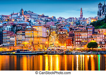 Porto Portugal Skyline - Porto, Portugal old city skyline...