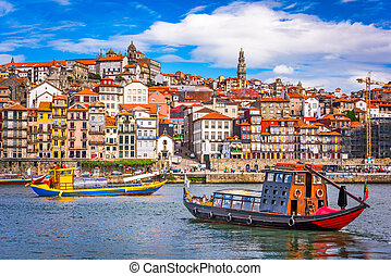 Porto, Portugal Skyline - Porto, Portugal old town skyline ...