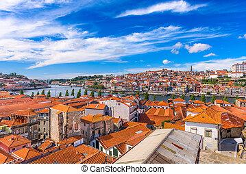 Porto, Portugal Skyline - Porto, Portugal old town skyline.