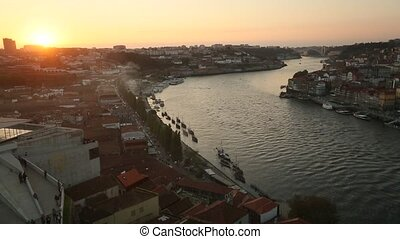 Porto, Portugal. Top view of Douro