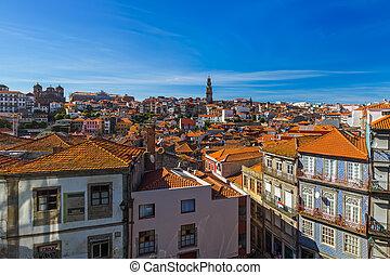 porto, portugal, vieille ville, -
