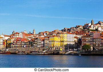 porto, région, portugal, tôt, ribeyr's, matin