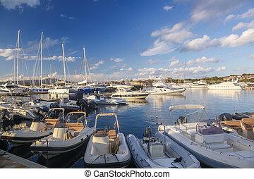 Porto Rotondo harbor in Sardinia, Costa Smeralda, Italy