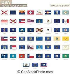 Porto Altes Usa Briefmarke Zustand Markierungsfahne