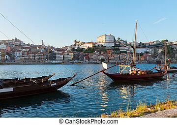 porto, scène, portugal, jour