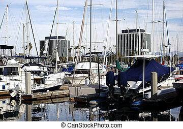 porto , segelboot, strahl, del, marina