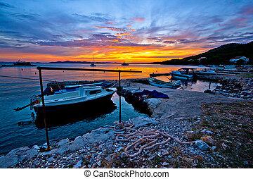 porto , sonnenuntergang, fischer, idyllisch, altes