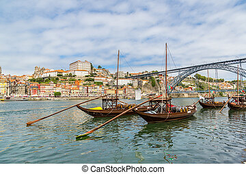 porto, traditionnel, vieux, bateaux