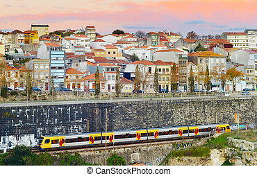 porto, train, city., portugal