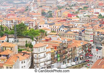 Porto, vecchio, Città, Case, storico, parte