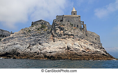 Porto Venere village on Italian Riviera, Liguria,Italy,...