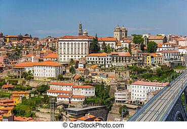 porto, vieille ville, portugal, vue