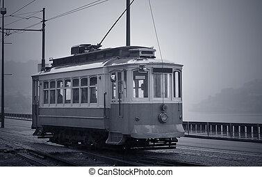 porto, vieux, tramway