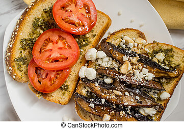 Portobello Mushroom Burger - Portobello mushroom sandwich...
