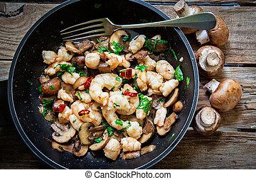Portobello mushroom fried