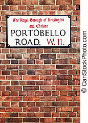 Portobello Road Street Sign in Nothing Hill, London