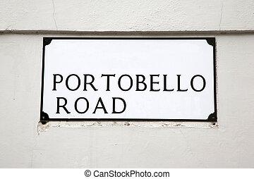 Portobello Road Street Sign, London