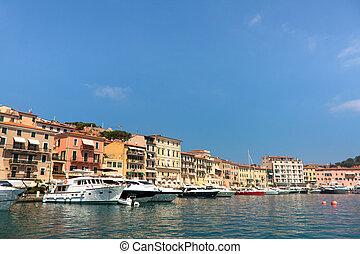 Portoferraio Harbor, Elba Island, Italy