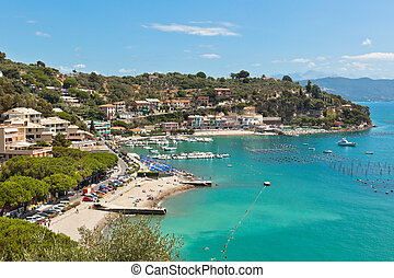 Portofino Bay View from Above - Portofino Bay (Italy) View ...