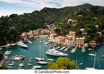 Portofino is a small Italian fishing village, a popular resting place for millionaires