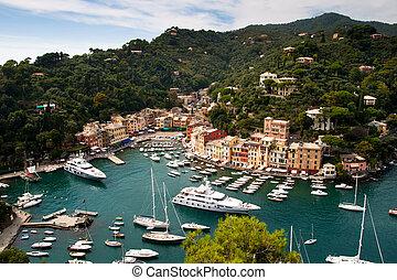Portofino, Italian Riviera, Liguria, Italy - Portofino is a...