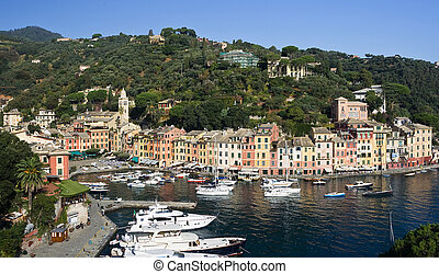 Panorama of Portofino, famous small town in Italy